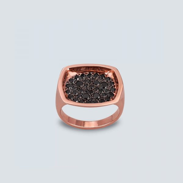 Rectangle Pavé Ring