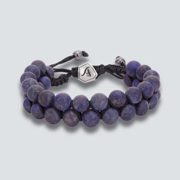 Lapis Lazuli Matte Double Line Bracelet