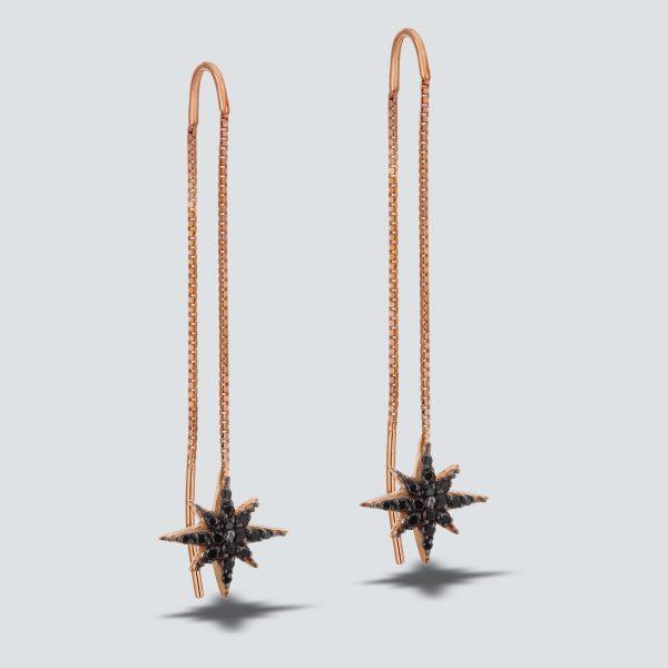 North Star Chain Earring