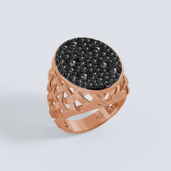 Macrame Oval Ring